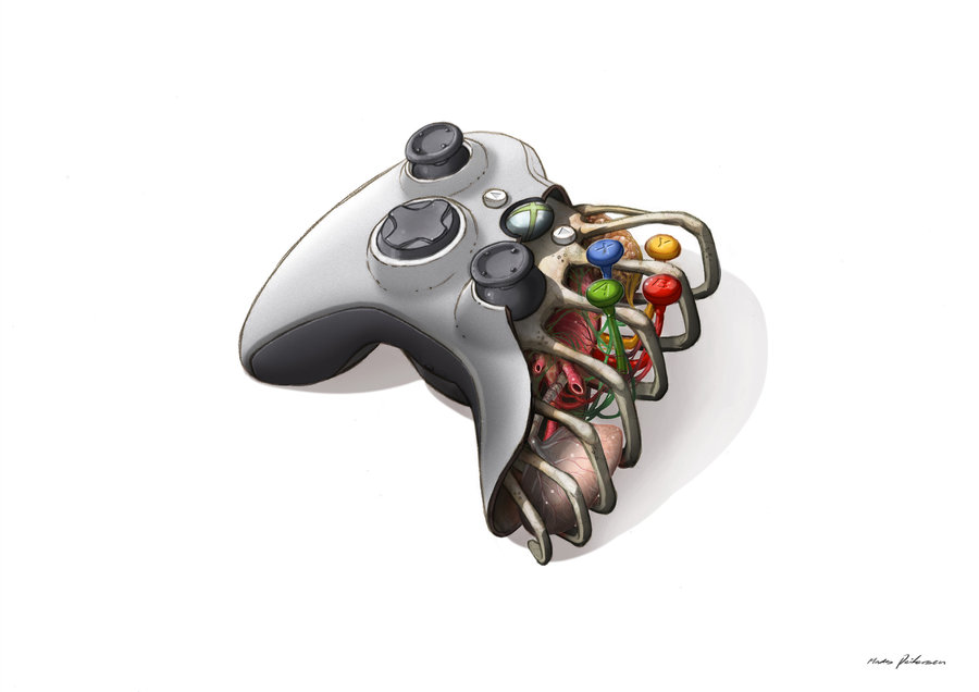 Drawn controller Xbox Drawing Xbox tagbook Controller