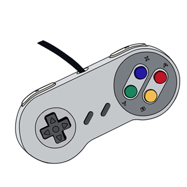 Drawn controller Nintendo selling  controller/Wired snes