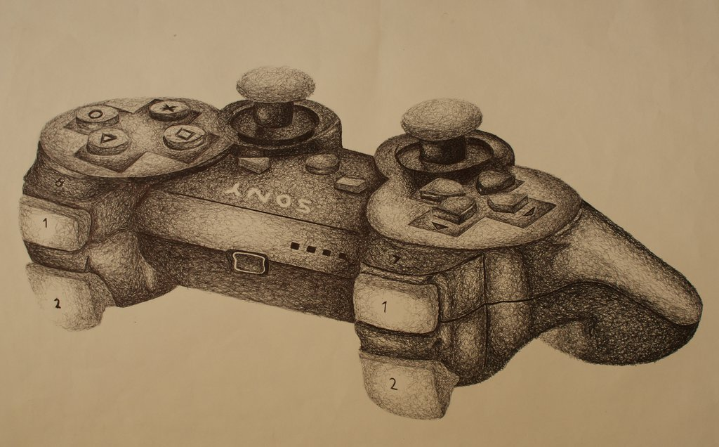 Drawn controller Controller on Pen Pen PS3