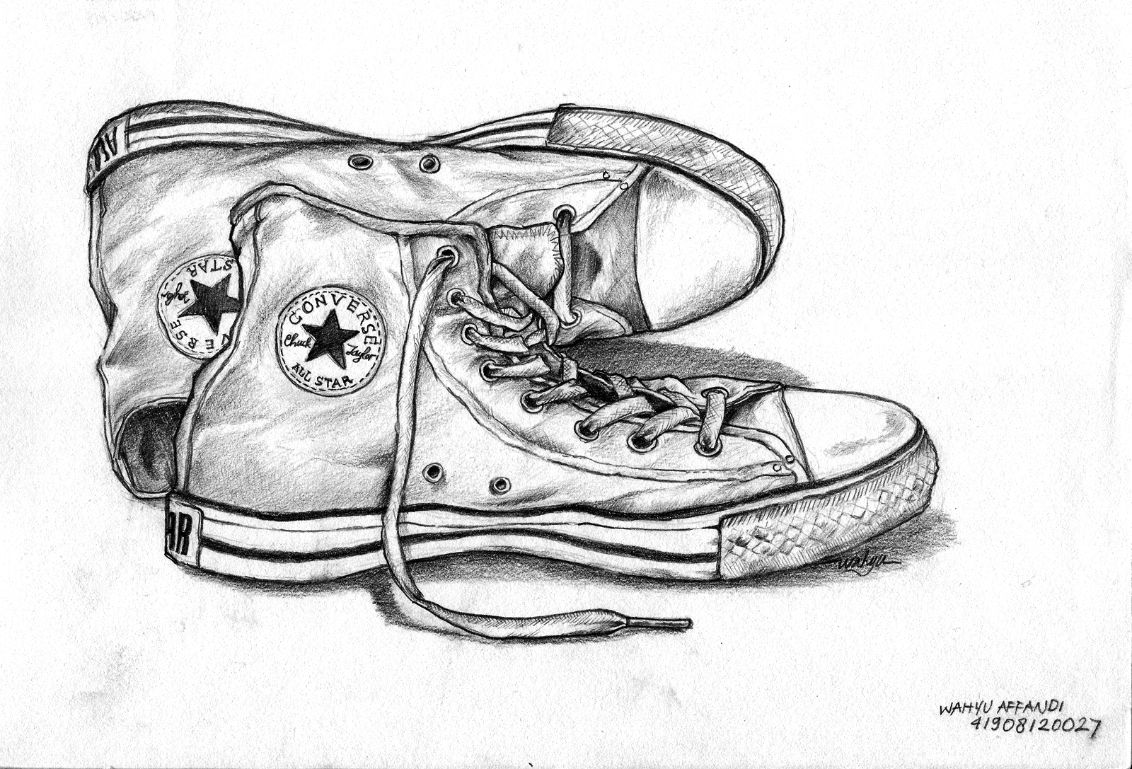 Drawn still life converse Converse line by to Line