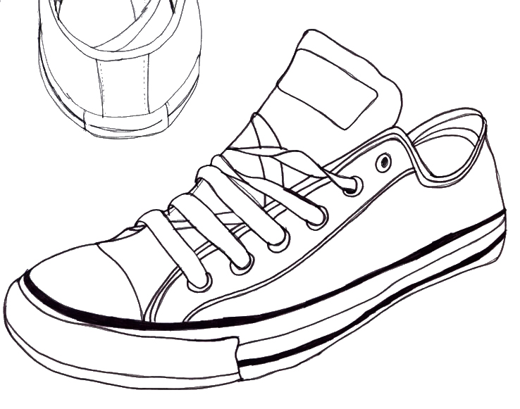 Drawn shoe converse high top Converse Drawing by Converse Drawing