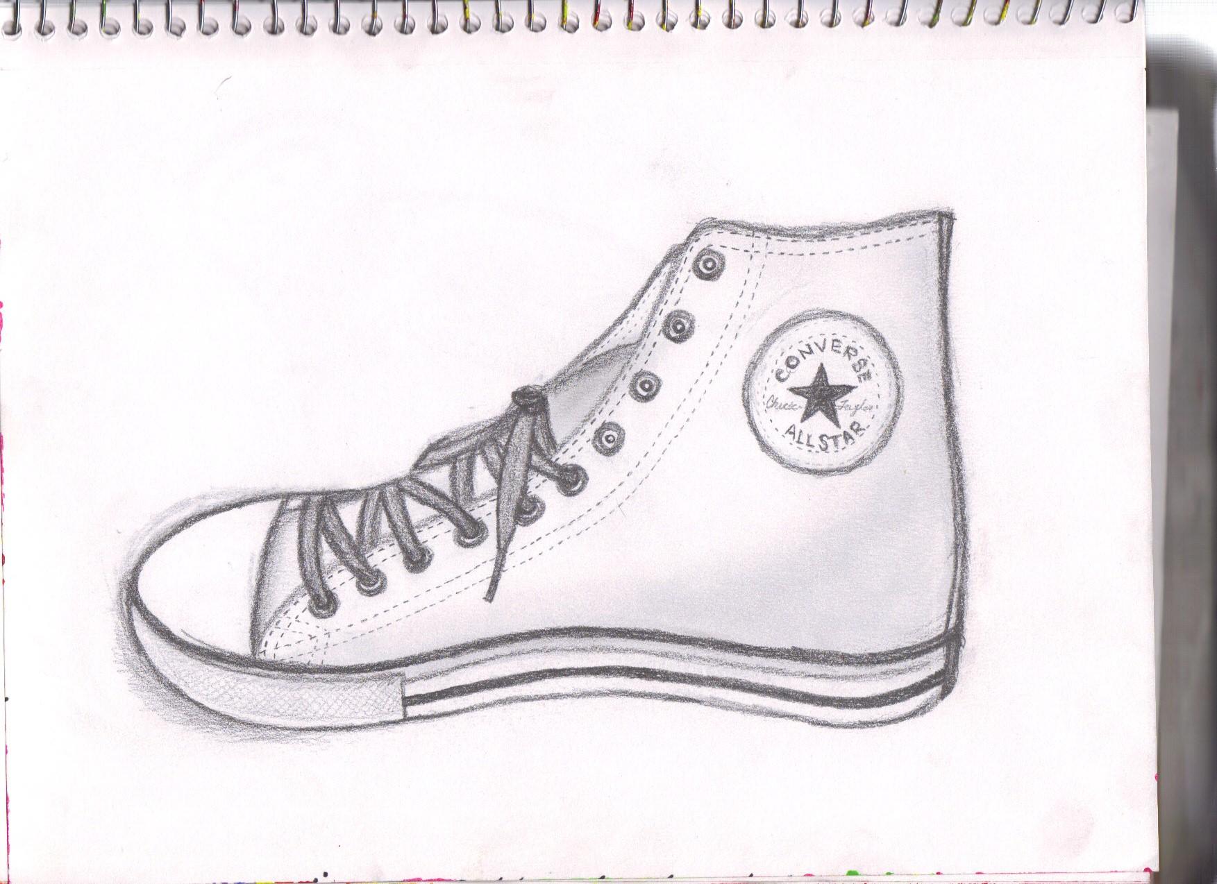 Drawn shoe converse XkoolXsoxX by Converse XkoolXsoxX Converse