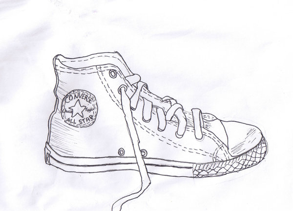 Drawn shoe converse DeviantArt on by by My