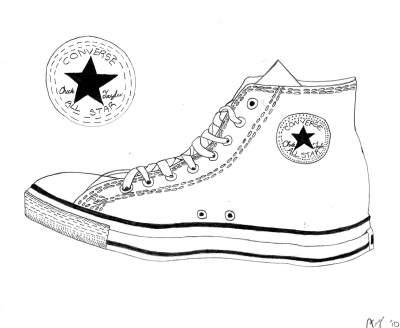 Drawn shoe converse Drawing converse Converse shoe objects