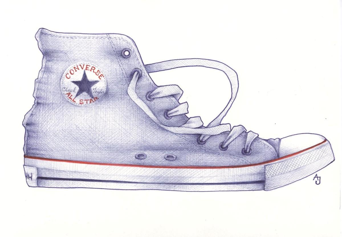 Drawn converse shoe How sketchblog to shoe andrea