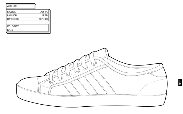 Drawn converse adidas shoe Running Children Coloring  Coloring