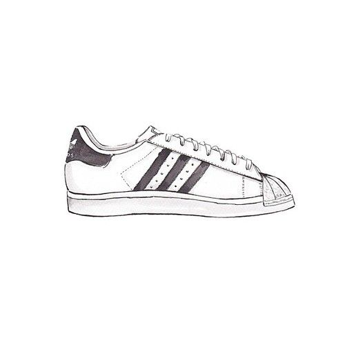 Drawn converse adidas shoe Objects II @adidasoriginals on illustrations