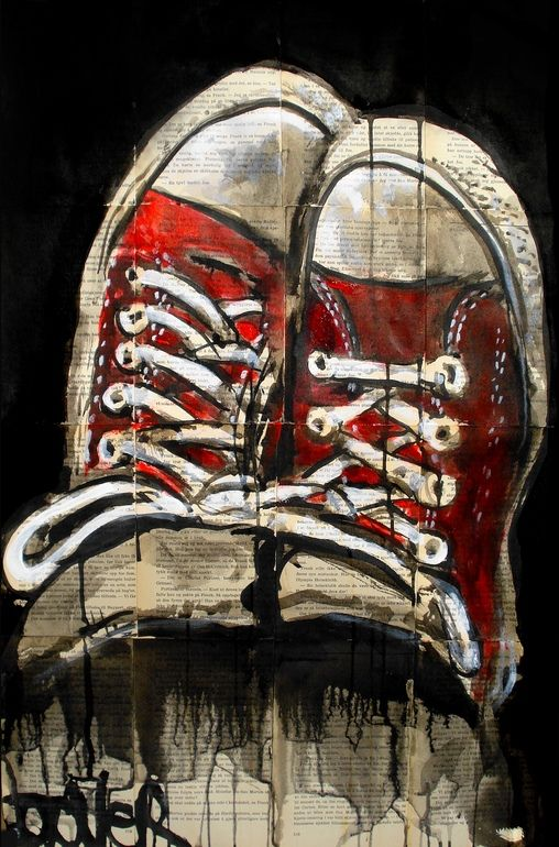 Drawn converse all star Converse Drawing Online Saatchi Artist: