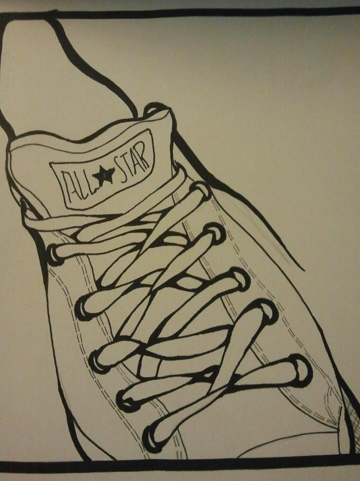 Drawn converse artistic Drawing Converse chucks about on