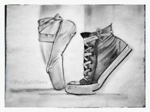 Drawn converse artsy Shoes converse Ballet … Converse