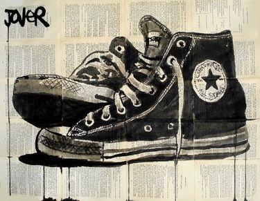 Drawn converse artsy Drawing Artist Saatchi stars
