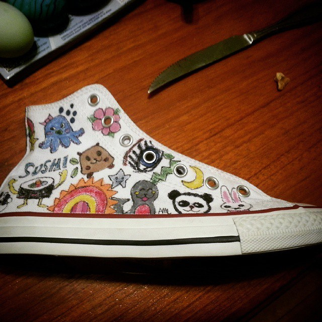 Drawn converse artsy To doodled me Asked