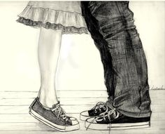 Drawn converse artsy Couple watercolor converse by painting
