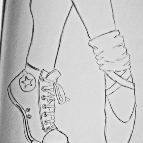Drawn converse ballet #draw Gloria (@coldcateco) Instagram videos