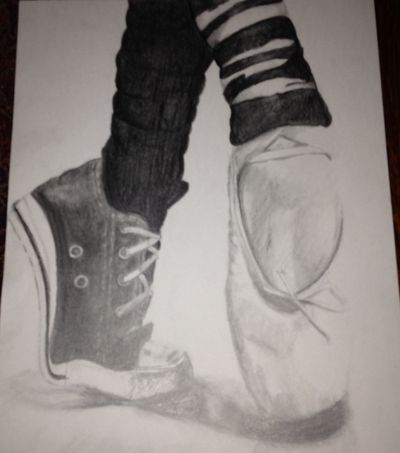 Drawn converse ballet And shoe drawing shoe on