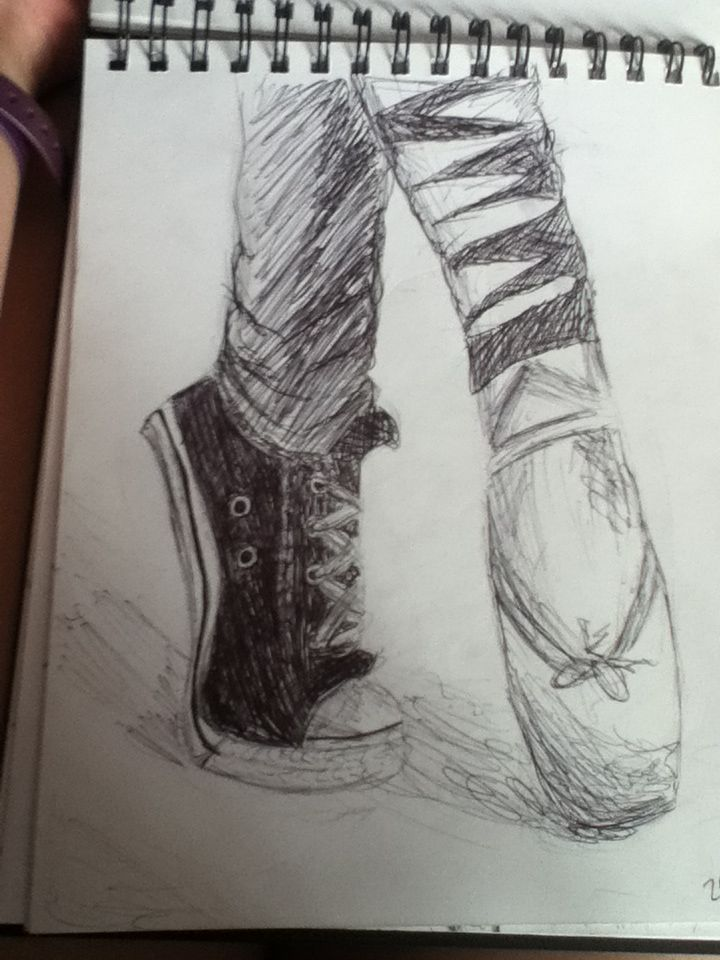 Drawn converse ballet With converse 52 best Pinterest