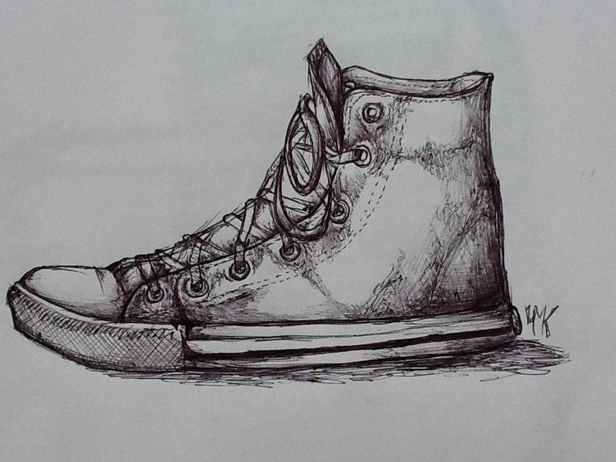Drawn converse biro DeviantArt Converse redbirch by ballpoint