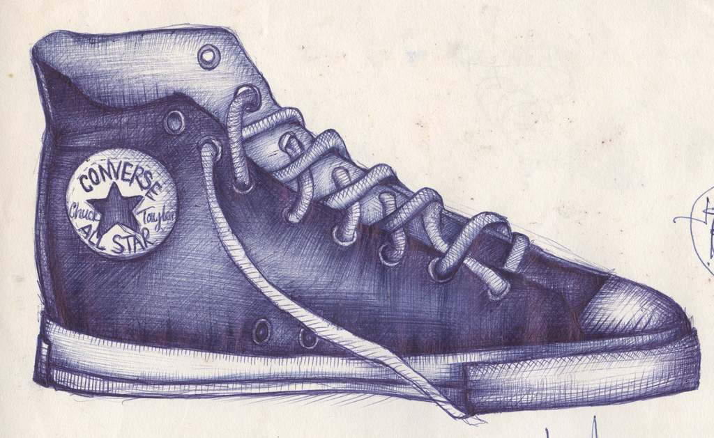 Drawn converse biro Illustrations by andrea drew about