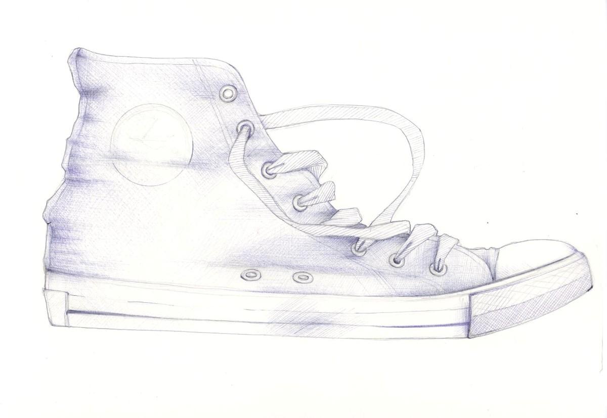 Drawn converse biro A draw sketchblog: drawing a