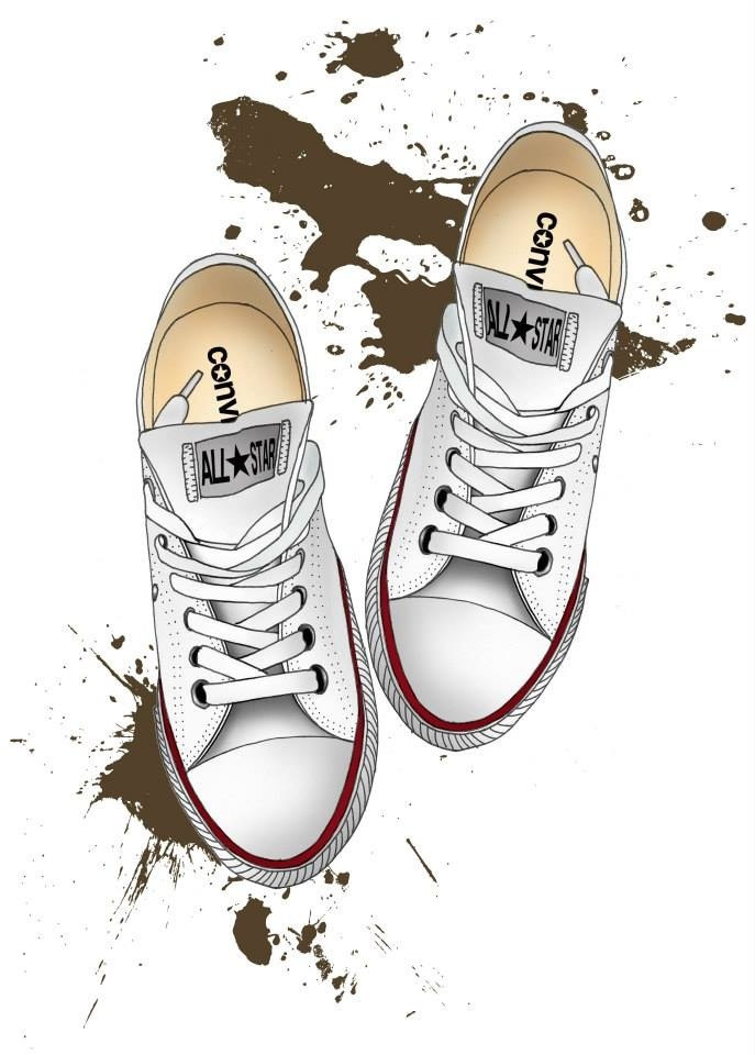 Drawn converse biro Illustration (Beckiboos) Tags: of The