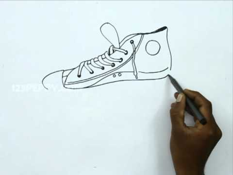 Drawn converse canvas shoe YouTube Shoe Canvas to