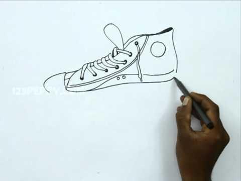 Drawn converse canvas shoe How Shoe Draw Canvas