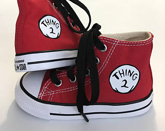 Drawn converse cat in hat Infant in High shoes and