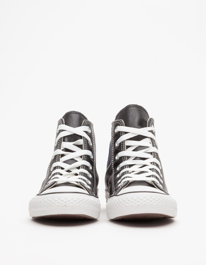 Drawn converse converse high top In Leather Gallery Black Top