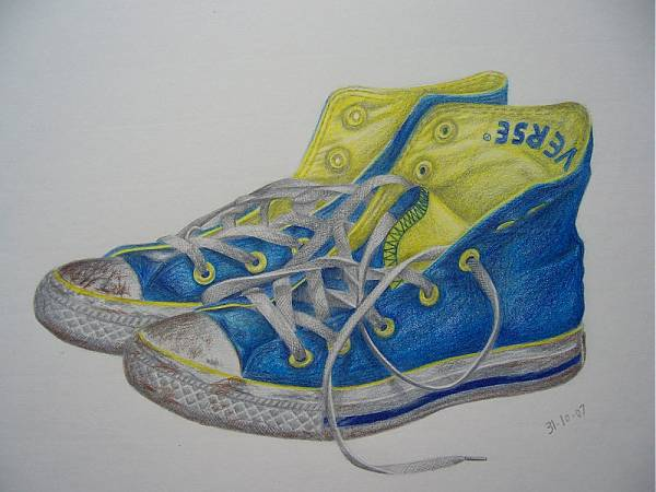 Drawn converse converse high top With drawing high One Converse