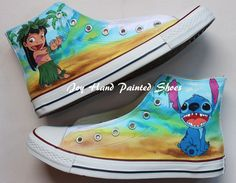 Drawn converse converse high top  Converse shoes Hand Painted