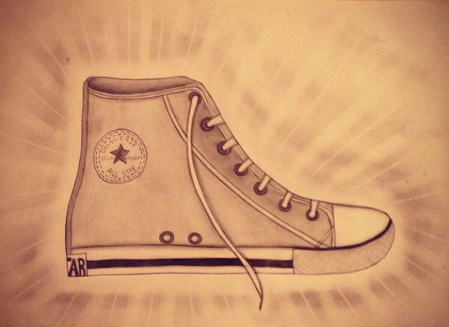 Drawn converse converse high top Shoe of My a