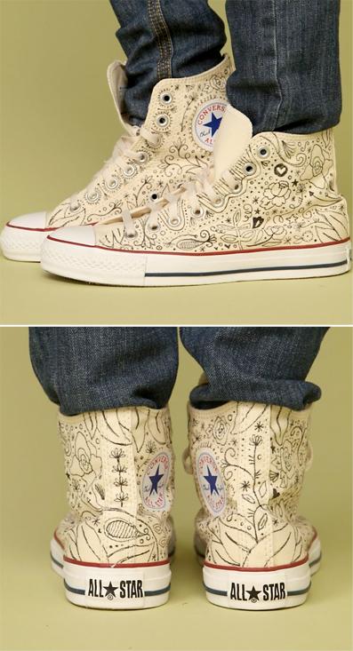 Drawn converse embellished Embellished sneakers embellished Mercy