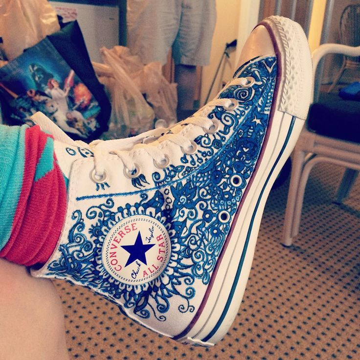 Drawn converse embellished Shoes Canvas best Shoes Converse