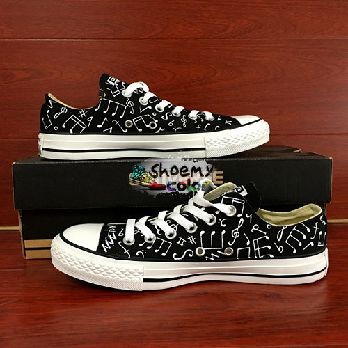 Drawn converse music note Painted Sneakers Top Musical Notes