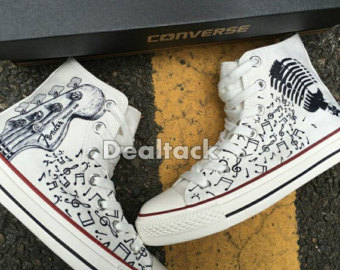 Drawn converse music note Star Notes note Guitar Painted