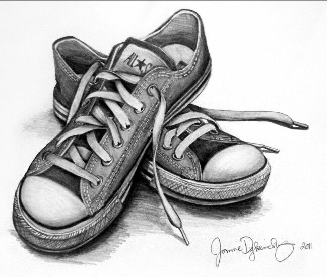 Drawn still life converse Pin drawings Best and this