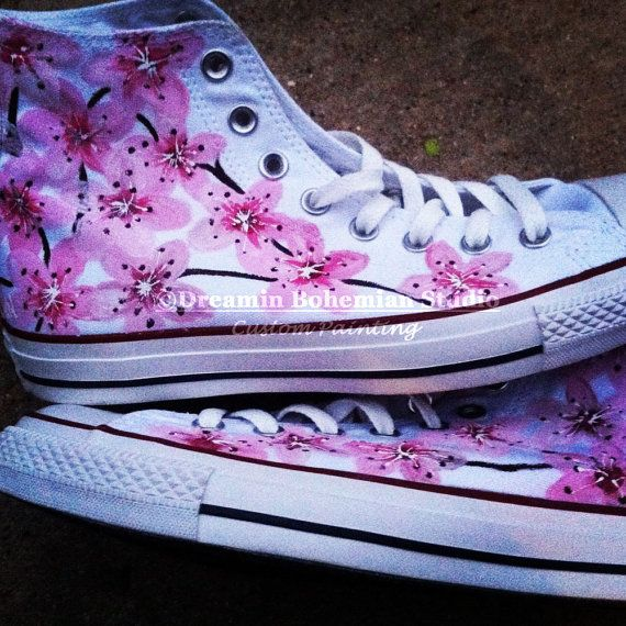 Drawn converse pink Tops Blossoms Pink Pinterest for