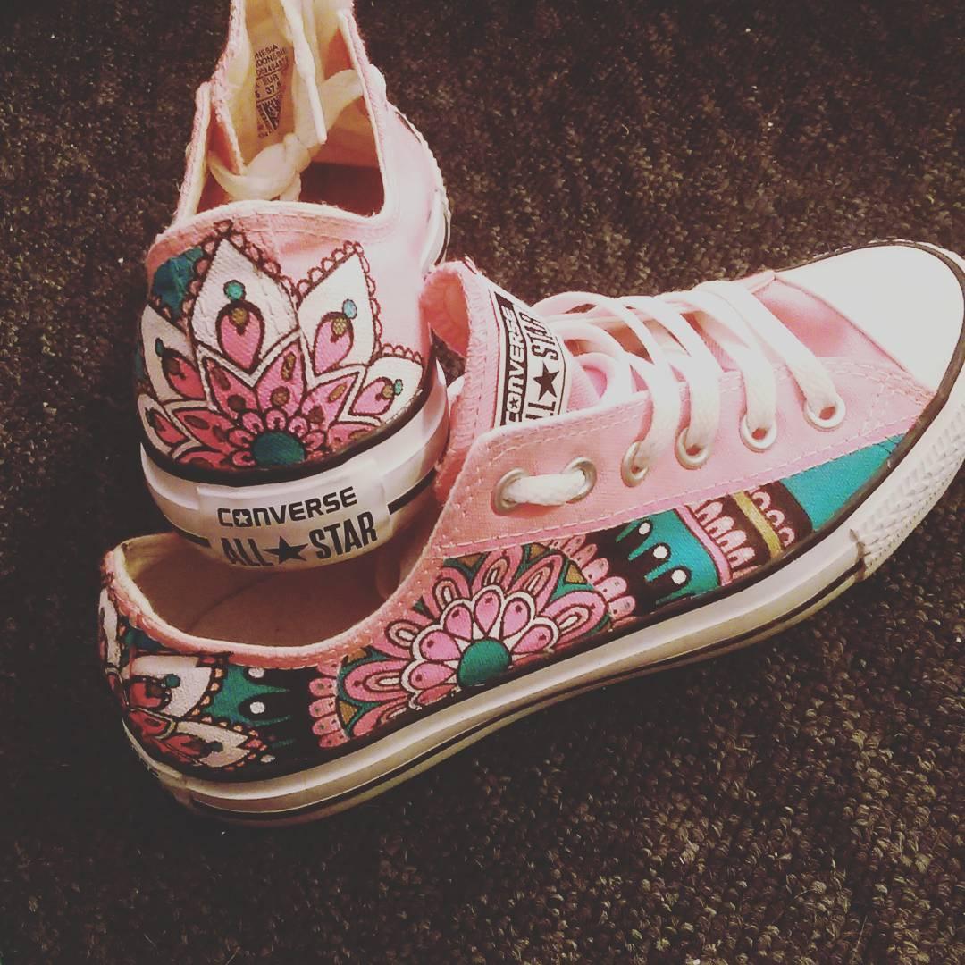 Drawn converse pink Vouchers Amazing Custom Higgypop Converse
