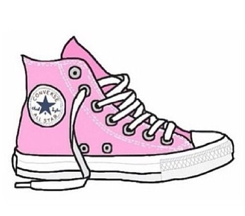 Drawn converse pink Transparents https://weheartit We images Heart