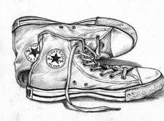 Drawn converse sketch Perspective Pinterest Drawing Class shoe
