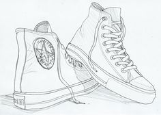Drawn converse sketch > View Gallery High Top