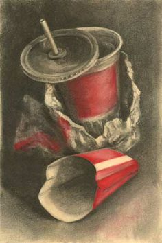 Drawn converse still life Life charcoal Bradney of are