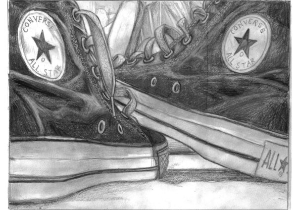Drawn still life converse Its DeviantArt a Carly a