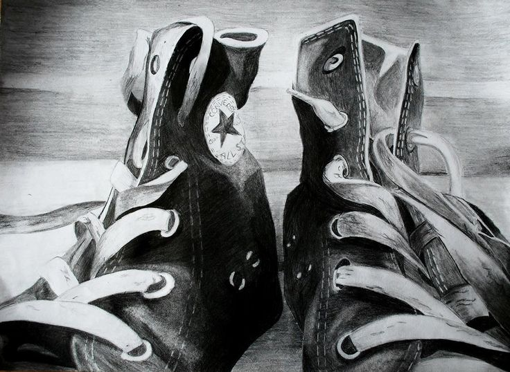 Drawn still life converse Final 25+ Piece drawing on