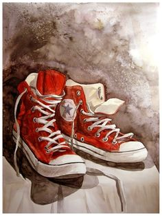 Drawn still life converse Gordon Pin does Illustrations and