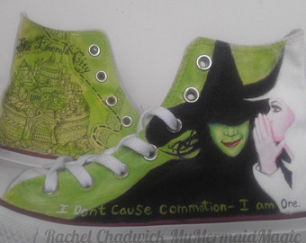 Drawn converse wicked Hand Etsy converse of Wicked