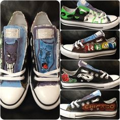 Drawn converse wicked Shoes Painted Broadway Vans for