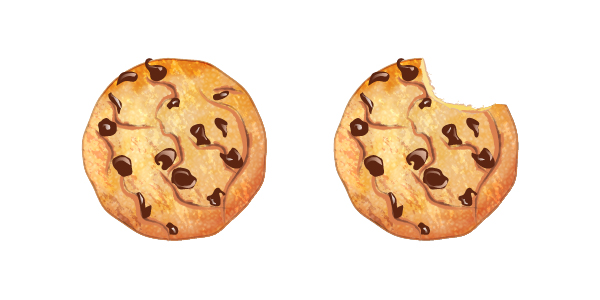 Drawn cookie Adobe Chocolate whole Illustrator and