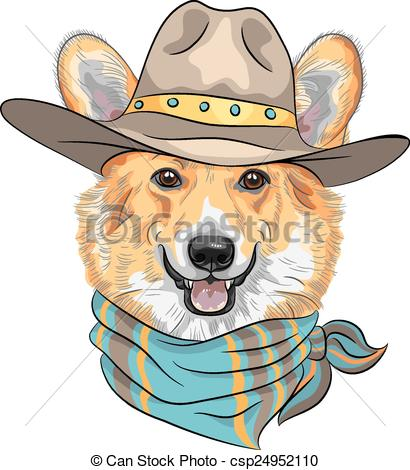 Cowboy clipart dog Of Hipster corgi Hipster Welsh