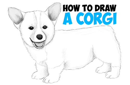 Drawn puppy real dog Drawing Draw How Draw Easy